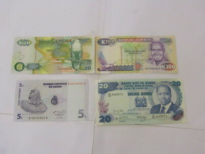 4 Banknotes from Africa all UNC