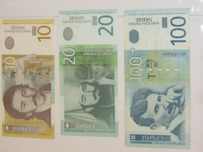 3 Banknotes from Serbia, Low serial numbers