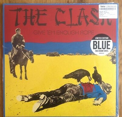 The Clash Give 'em Enough Rope Blue Vinyl HMV Reissue Sealed Mint