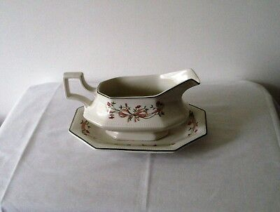 Johnson Brothers Eternal Beau Gravy Boat And Tray