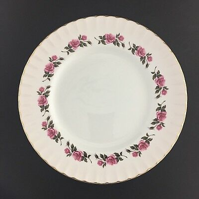 Ridgway Romance Two Dinner Plates Staffordshire England 22 KT Gold Trim Vintage