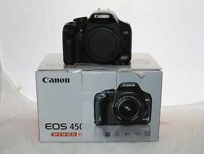 DSLR Canon EOS 450D Camera - Body + Charger + 2 Batteries and interface cable.