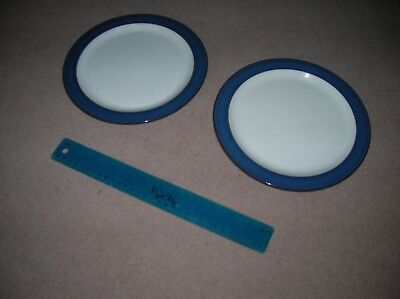 Denby Boston Blue Dessert Plate X2