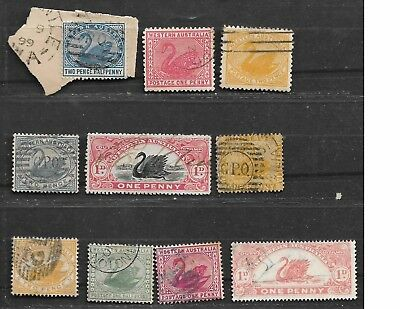 Collection Lot Of 10 Western Australia Stamps Cv +$20