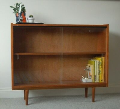 Mid Century glass display cabinet bookcase