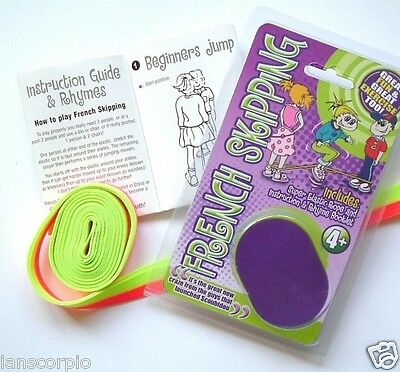 X20  French Skipping Rope Super Elastic Rope & Instruction & Rhyme Booklet *new*
