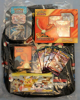 Sac à dos Pokémon Evolutions + Pokebox, Deck Legendaire, Boosters SL2 (détails)