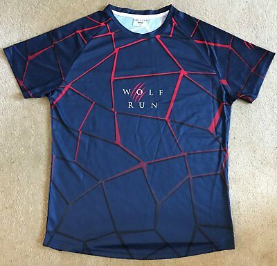Wolf Run Finishers Men's Technical T-Shirt - Size Large
