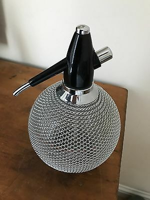 soda syphon glass globe with mesh
