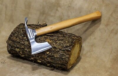 Elegant small bearded hatchet / axe combined with curved adze blade by mapsyst
