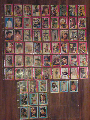 Grease 1978 OPC Partial Set 56 cards + 10 Stickers Series 1 Canada Ed.