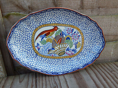 Antique William Adams Multi coloured Plate Chinese Pattern Pheasant and Foliage