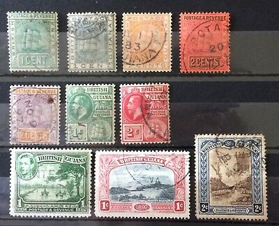 British Guiana. Small Collection. 1876-1938. Used