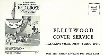 United States - Fleetwood Cover Service Reply Enveloppe International Red Cross