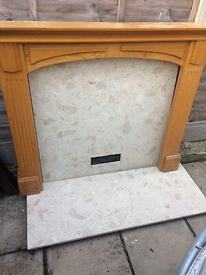 Fireplace Surround ,Marble Hearth And Back Panel