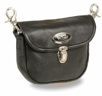 Milwaukee Leather Leather Belt Bag W/ Quick Release & Belt Clasps