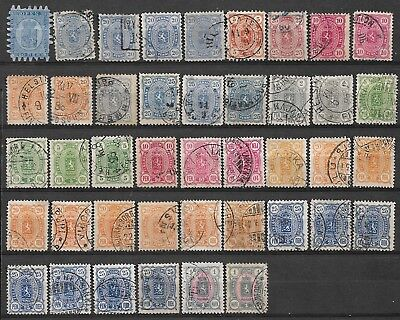 Finland very old lot unchecked used