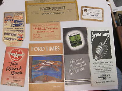 Large Mixed Lot 20+ VINTAGE AUTOMOTIVE RELATED ADVERTISING * MOST EARLY 1900s