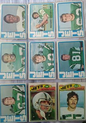 17 x Topps New York Jets vintage 1970's NFL football cards