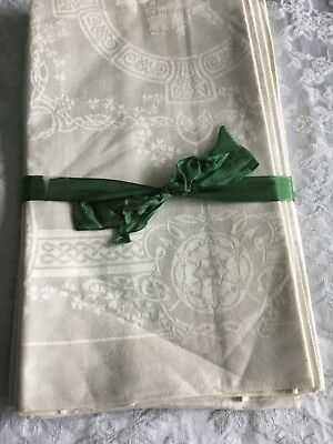 Vintage Irish Double Damask Linen Napkins - New, Unused