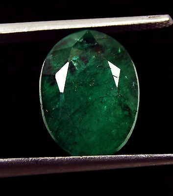 5.20 Ct Natural Oval Cut Beautiful Zambia Green Emerald Gemstone Collect invest