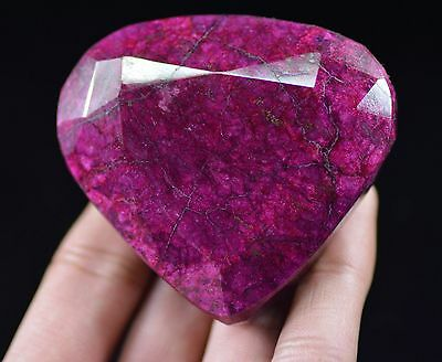 Natural 1080 Ct Excellent Pear Shape EGL Certified African Red Ruby Gemstone