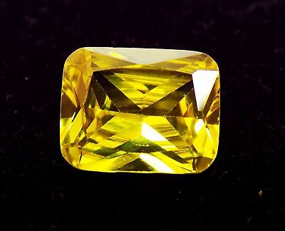 5.25 Ct Natural Oval Cut Cambodia Neon Zircon Yellow Color Gemstone  A
