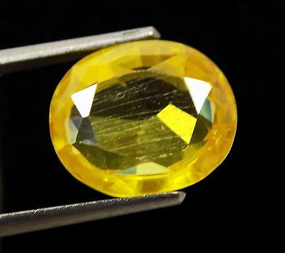 9.70 Ct Natural Oval Cut Cambodia Neon Zircon Yellow Color Gemstone