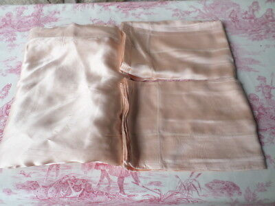 """Beautiful Vintage Satin Lge Dble Bed Sheet 104 """" =260 cm & Pillow cases French"""