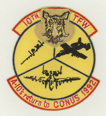 USAF patch 10 TFW A10 Return to CONUS 1992 A10A Alconbury AB UK