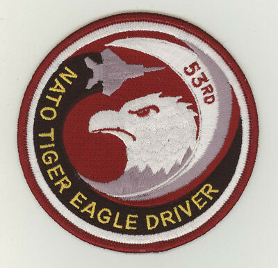 USAF patch 53 Fighter squadron Nato Tiger Eagle driver F15 Spangdahlem tigermeet
