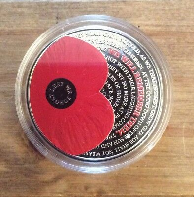 2017 Poppy £5 Coin. Lest We Forget