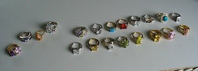 Large 16 Sterling Silver Ring Lot plus 4 other rings