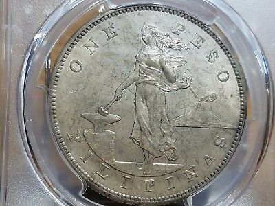 1903s U.S.-Philippines Peso,PCGS Certified MS62,Scarce in Mint State Grade,KM168