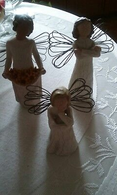 Willow Tree Angel Fiqurine 2000 Angels by Susan Lordi lot of 3