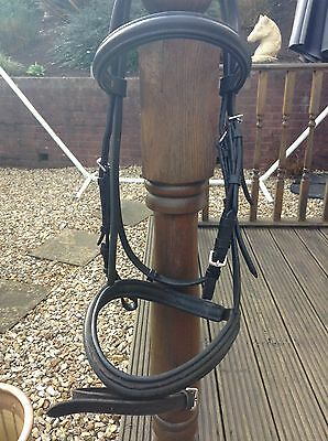 cob windsor bridle, black, cavesson noseband with flash