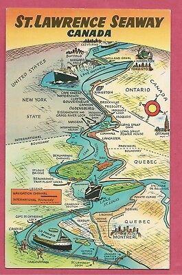 Postcard / Map Card  St.Lawrence Seaway Canada, Montreal 1967 World Exhibition