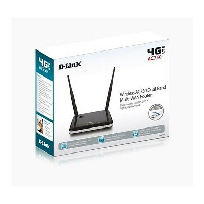 ROUTER 4G LTE WIRELESS 300MBPS D-LINK DWR-118 AC750 Dual-Band Multi-WAN Router