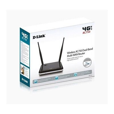 Router 4G Lte Wireless 750Mbps D-Link 4G Lte Multi-Wan  Ac750Mbps Dual-Band Usb