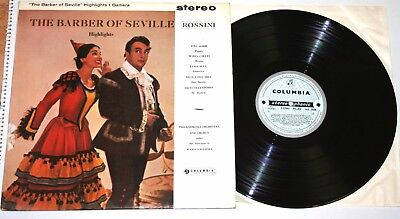 Rossini: The Barber of Seville - Galliera - **Columbia SAX 2438 ED1 Stereo LP