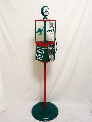 SINCLAIR  Dino gas vintage gumball machine candy/ nuts man cave machine + stand
