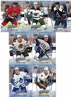 NHL Rookie Tradingcard Lot – 2016-17 Upper Deck MVP – 7 Cards