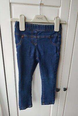 Next baby girl indigo skinny jeans jeggings age 18-24 months