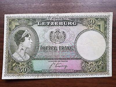 Luxembourg 50 francs 1944 banknote