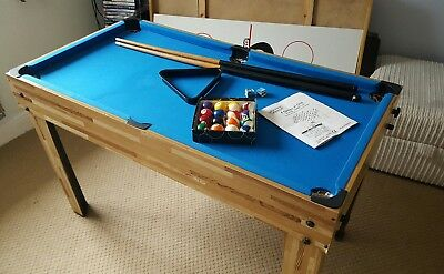 4 in 1 games table football,hockey, basketball & snooker
