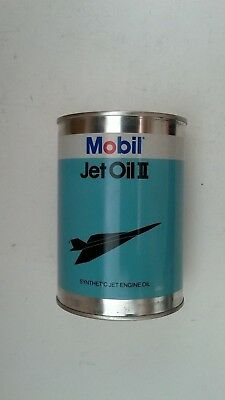 Mobil Jet Oil II Metal  Empty Quart Oil Can  FREE SHIPPING