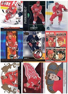 NHL Player Tradingcard Lot – Sergei Fedorov – Detroit Red Wings - 12 Cards