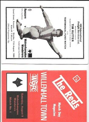 WILLENHALL TOWN        v WOLVES  9/8/1980   (FRIENDLY   )
