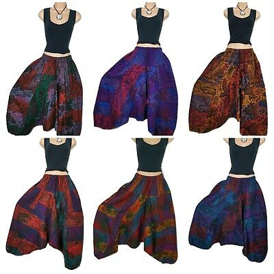 Fleece Boho Warm Winter Harem Trouser Baggy Aladdin Pants Gypsy Genie Festival