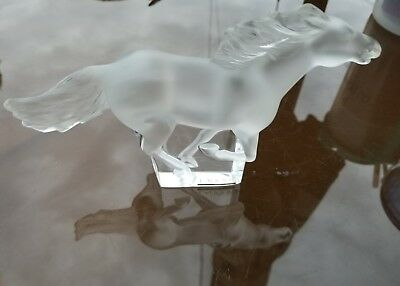 Lalique Kazak Cheval Running Horse Sculpture/paperweight -Signed -Mint Condition